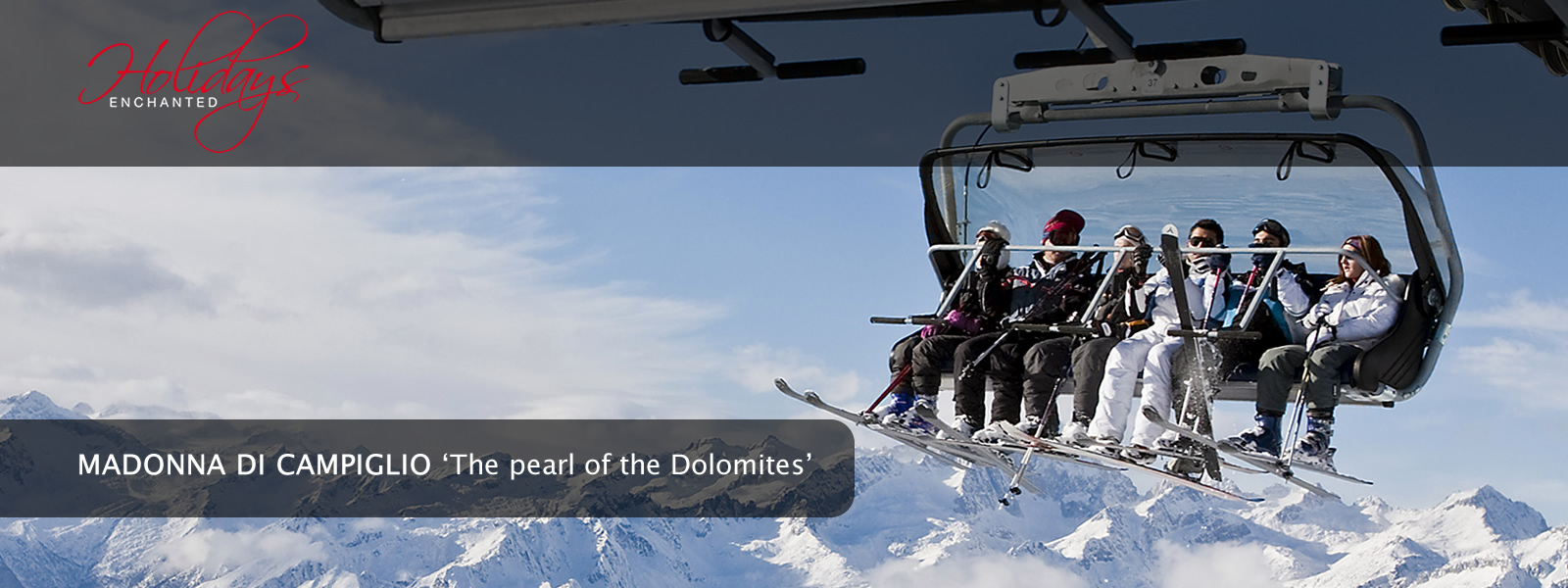Chairlift in the Dolomites at Madonna di Campiglio