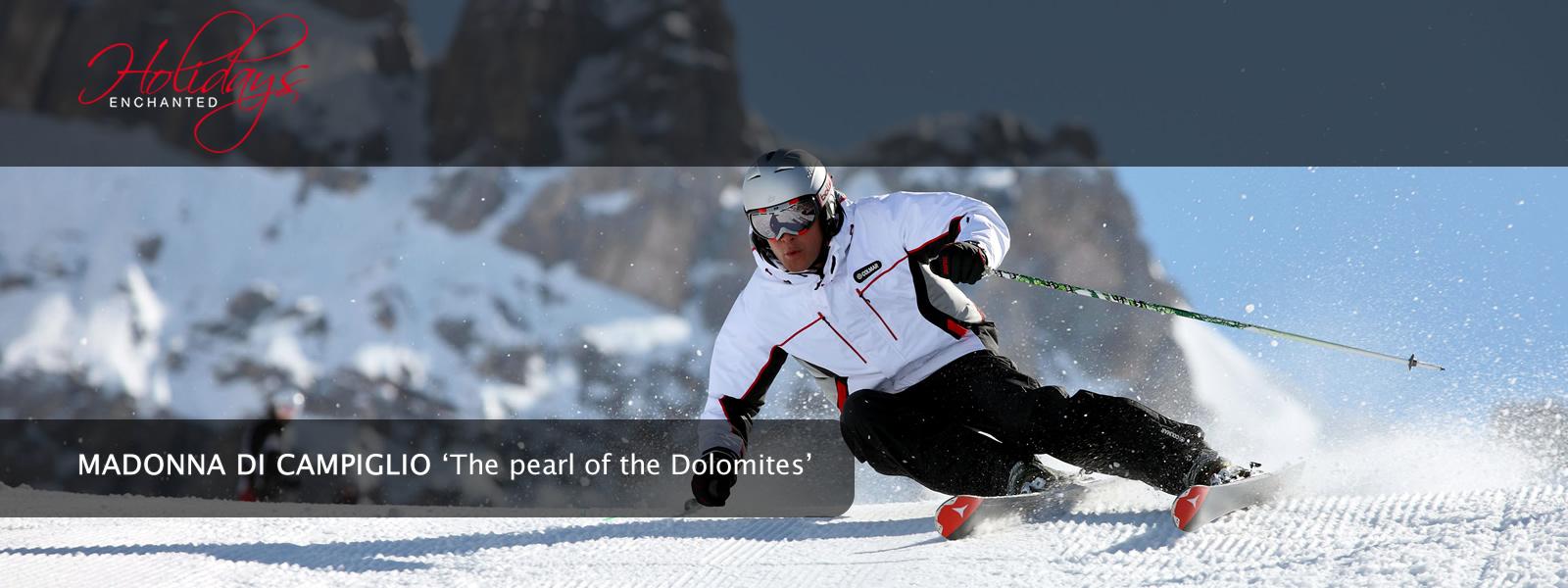 Skiiing at Madonna di Campiglio