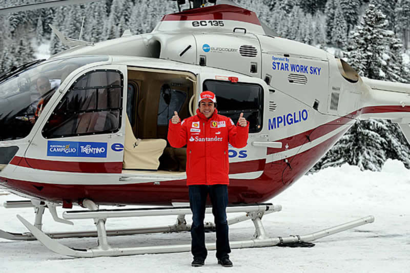Helicopter shuttle service available from Enchanted Holidays