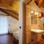 Residence Chalet dei Pini Madonna di Campiglio Bedroom and Bathroom