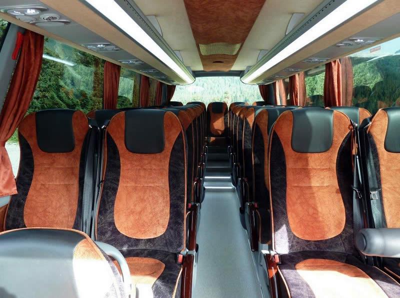 Shuttle Bus Interior Madonna di Campiglio